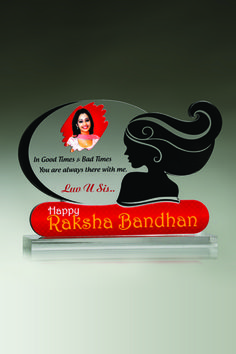 Add your sister's image to this innovatively designed Raksha Bandhan plaque by GitanjaliAwards and surprise her with the gift. Check more products on our website.     - See more at: http://www.gitanjaliawards.com/User/View_Individual_Product1.aspx?P_Id=510#sthash.fus0Zg0z.dpuf