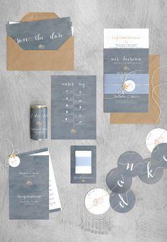 Papeterieserie Grau und Braun