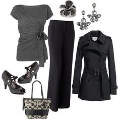 black and gray outfits - Google Search