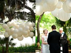 paper lantern cloud #wedding #suspension #decor