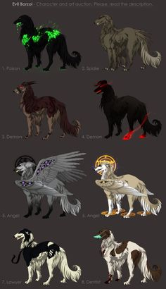 Evil Borzoi Adoptables - character auction CLOSED by akreon.deviantart.com on @deviantART