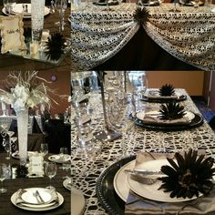 Black & Silver Table Setting...Impeccable Designs by Faith