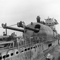 1930's French submarine Surcouf 4303ton, armed with two 203mm(8 inch) guns and a hangar foe areconniasance airplane, lost in 1942 after hitting an american ship, or was she?