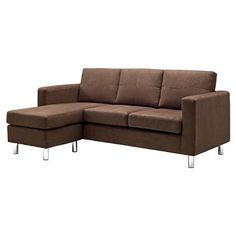 3c1d442c94 Gray Sectional Sofa Microfiber Chaise Lounge Living Room Modern Couch  Reverse Black Sofa