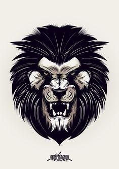 Para esta ilustración busqué dibujar un león que no tuviese un aspecto de tranquilidad, acoplándole también con el tipo de detalle ocupado, que tenga muchas líneas en punta, etc.Logré un aspecto incónico del león y quedé muy satisfecho con los resultados…