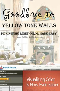 How to pick the right wall color made easy with the Sherwin Williams visualizer. I have some examples and some that could go way wrong! Thank goodness for this tool.