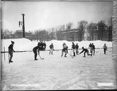 km from branch Hockey, McGill University teams, Montreal, QC, 1902 Wm. Notman & Son century Silver salts on glass - Gelatin dry plate process 20 x 25 cm Purchase from Associated Screen News Ltd. Ontario, All About Canada, Canadian History, O Canada, Hockey Games, Thinking Day, Prince Edward Island, New Brunswick, Parcs