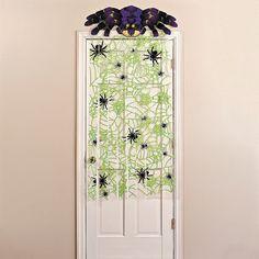 Spiders & Web Door Curtain - OrientalTrading.com