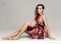 Jessica Alba in Fall Dress Styles for Marie Claire UK by David Roemer