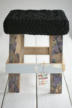 wood and big wool stool