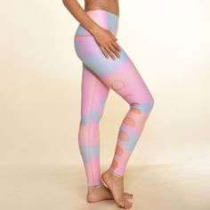 sweet moon child. guided by the darkness, the light and all the colors in between. The new moon rainbow hot pant has a high and low waistband option that is elastic free so they won't cut into you. We