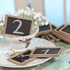 With the help of these darling Mini Chalkboards, make unique, eye-catching sign displays that you can change again and again! Enjoy finding various ways to creatively organize and personalize your surroundings and special events.