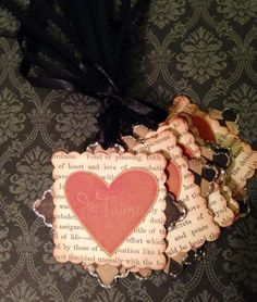 French Love Tags Set of 10 by enchantedscraps on Etsy, $6.00