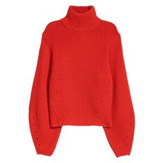 Cashmere-blend Sweater $59.99 ❤ liked on Polyvore featuring tops, sweaters, short-sleeve turtleneck sweaters, red turtleneck sweater, turtleneck tops, cashmere blend sweater and red sweater