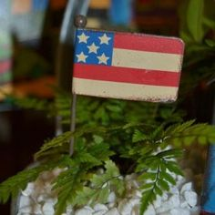 Fairy Garden Miniature Flag.  Shop ONLINE now for the cutest fairy garden supplies.  Also, we are located in Powell, Ohio (Columbus, OH area).  Best selection of fairy garden supplies and mini plants.  It's worth the trip!