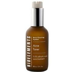 Bioelements Acne Toner - For Oily/Acne Skin Types. This 0.5% salicylic acid treatment and oil-absorbing formulation gives multi-purpose skin balancing benefits. It hydrates, clears and removes excess oil, as it keeps skin clear of new acne pimples, blackheads and whiteheads. http://www.skin-beauty.com/bioelacas3oz.html #bioelements #toner