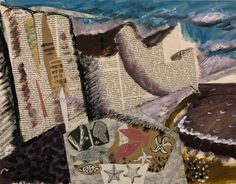 'Beach with Starfish' (c.1933-34) by British artist John Piper (1903-1992). Gouache, printed paper and ink on paper, 380 x 485 mm. via the Tate