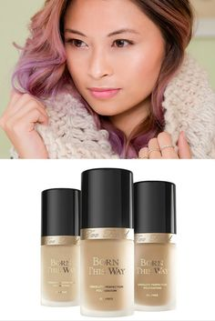 Cashmere skin… flawless all-over glow. Achieve this look with Too Faced Born This Way Foundation, found at Ulta Beauty.