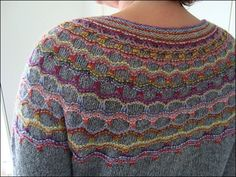 Ravelry: Folklore pattern by Anne Dyrholm Stange Intarsia Patterns, Fair Isle Knitting Patterns, Sweater Knitting Patterns, Knitting Designs, Hand Knitting, Stitch Patterns, Mosaic Patterns, Hand Knitted Sweaters, Yarn Over