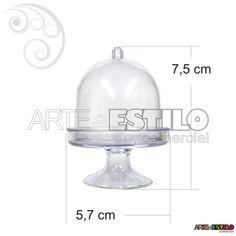 LANÇAMENTO - Embalagem c/ 10 Mini Cupula de Acrilico / Redoma de Acrilico - Só R$1,29 cada