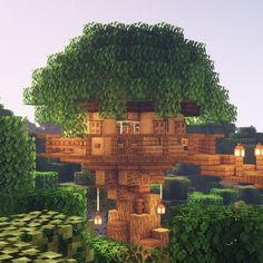 Great buildings and structures 821555157012556429 Minecraft Houses Survival, Easy Minecraft Houses, Minecraft Houses Blueprints, Minecraft Decorations, Cool Minecraft, Minecraft Crafts, Minecraft Designs, Minecraft Jungle House, Minecraft Cottage House