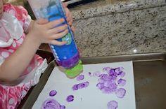 Sponge Painting Bottles
