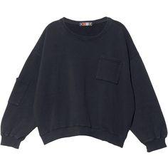 MSGM Sweatshirt (2.613.775 IDR) ❤ liked on Polyvore featuring tops, hoodies, sweatshirts, sweaters, shirts, jumpers, graphic shirts, crop shirts, sweatshirt crop top and cotton sweat shirts
