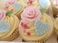 Pink & Blue Cupcake