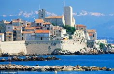 antibes france | Impressive backdrop: Antibes' old town with its mountain vista, many ...
