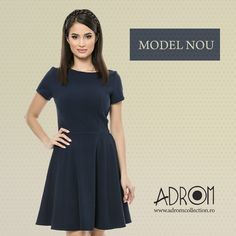 Alege simplitatea cu rochia R607. Alege Adrom Collection. Comenzi online en-gros: http://www.adromcollection.ro/519-rochie-angro-r607.html