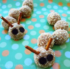 golden oreo cheesecake truffle caterpillars ~hungry happenings (this recipe sounds sooo yummy)