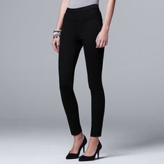Women's Simply Vera Vera Wang Pull-On Jeggings, Size: 10 Long, Black