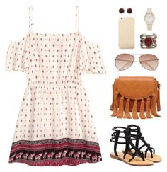 """""""Texas"""" by abigaillieb ❤ liked on Polyvore featuring H&M, Sole Society, Mystique, Kate Spade and ADORNIA"""