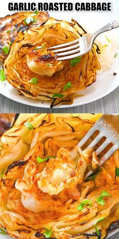 Vegetarian Recipes Dinner, Easy Dinner Recipes, Vegetable Recipes, Dessert Recipes, Cooking Recipes, Healthy Recipes, Garlic Recipes, Cleaning Recipes, Roasted Cabbage