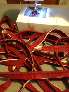 Making cording Red Cushions, Cord, Red Pillows, Cable, Cords, Twine, Drawstring Waist, Wire, Electrical Cable