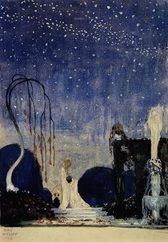 Kay Nielsen (Danish-American, Kay Nielsen was an art nouveau illustrator who specialized in books for children. He worked as a concept artist for the Walt Disney company from His. Art Inspo, Kunst Inspo, Inspiration Art, Kay Nielsen, Art And Illustration, Fantasy Kunst, Fantasy Art, Art Nouveau, Fairytale Art