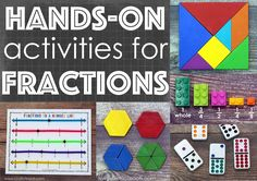 Teaching fractions with hands-on manipulatives and activities helps students develop a conceptual understanding that will endure.
