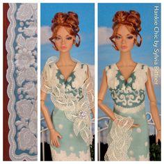 Agean Sea for Barbie Poppy Parker & Victoire Roux by HankieChic, $50.00