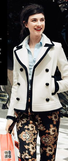 Love. Coat & pants | J.Crew    Together or separate- It'll last for a couple of seasons.