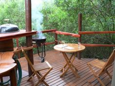 Braai time on your private tree house deck Teniqua Treetops Knysna Sedgefield, Garden Route, South Africa http://www.teniquatretops.co.za