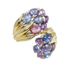 Hyacinth' Bracelet - Fulco di VERDURA. Sapphire, diamond and gold.
