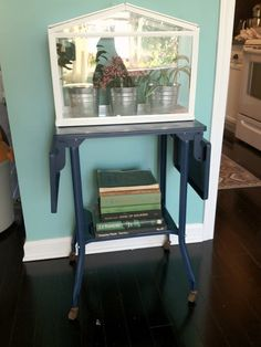 Liberty and Lace: Vintage Metal Typewriter table makeover