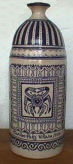 Serie de cerámicas realizadas en Marruecos Año 2.000 | Carlos Páez Vilaró Vase, Home Decor, Morocco, Greek Chorus, Uruguay, Blue Prints, Decoration Home, Room Decor, Vases