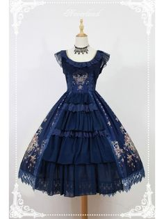 Neverland Lolita ~Gem Swan~ Elegant Lolita JSK Dress with Front Open Design - 4 Colors Available