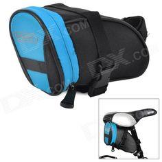 ROSWHEEL 13656 Stylish Handy 600 Dacron   PVC Tail Bag for Bike - Black   Blue Price: $9.00