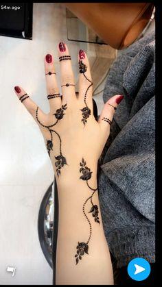 Simple But Elegant Henna/Mehndi Design for You Henna Tattoo Designs Simple, Unique Mehndi Designs, Mehndi Designs For Fingers, Beautiful Mehndi Design, Latest Mehndi Designs, Simple Mehndi Designs, Unique Henna, Henna Mehndi, Mehendi