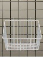 """White+Mini-Grid+Basket+with+4""""+Front"""