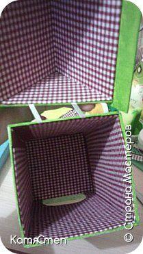 Мастер-класс Поделка изделие Картонаж Чайный домик - заготовка внутренняя отделка Бумага Клей Ткань фото 1