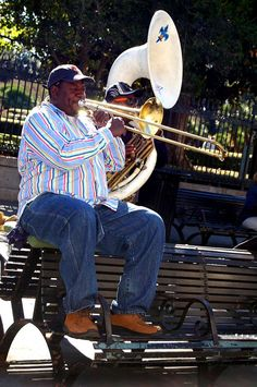 Music in Jackson Square in New Orleans, Louisiana