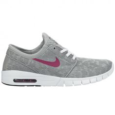 856ed6b156cf Nike SB Stefan Janoski Max base grey bright magenta-white shoes in store  and online at NOTE. Free UK delivery.